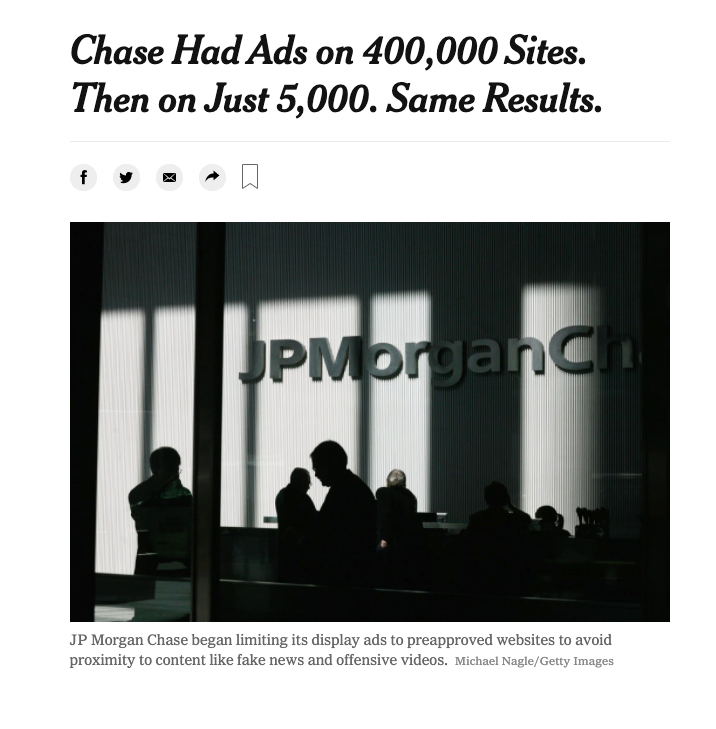 Chase Had Ads on 400,000 Sites. Then on Just 5,000. Same Results.