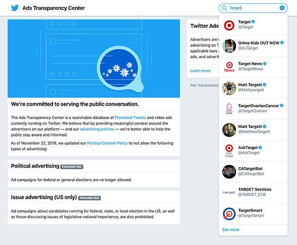 Twitter Ad Transparency | Social Media Competitive Research | Paid Social | Mighty Roar