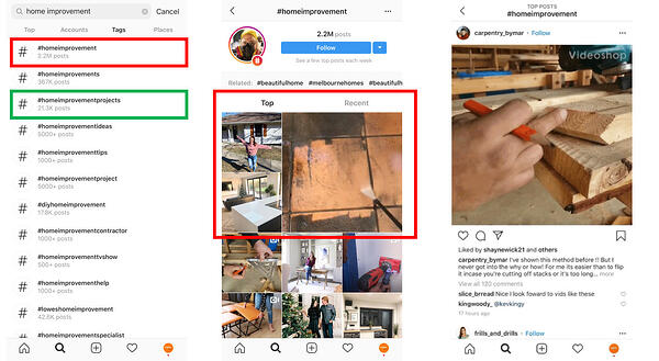 Home Improvement Instagram Hashtag Example | Gain Social Media Followers | Mighty Roar