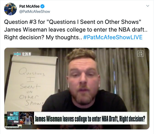 Pat McAfee Questions I Seent On Other Shows | Mighty Roar