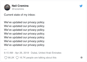 We've updated our privacy policy | Twitter Joke