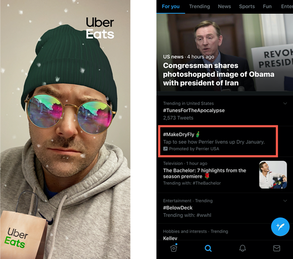 Sponsored Social Lens Filters | Hashtags | Digital Advertising Agency Native Advertising | Mighty Roar | Atlanta