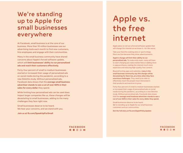 iOS 14 Privacy | Facebook vs Apple | Facebook Full Page Ads | Digital Marketing Agency | Atlanta Georgia